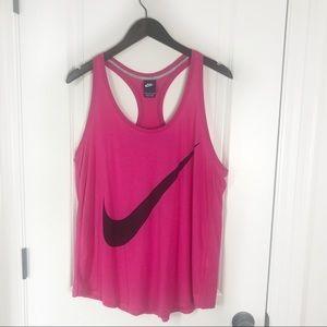 Nike Pink & Black Loose Training Tank Top